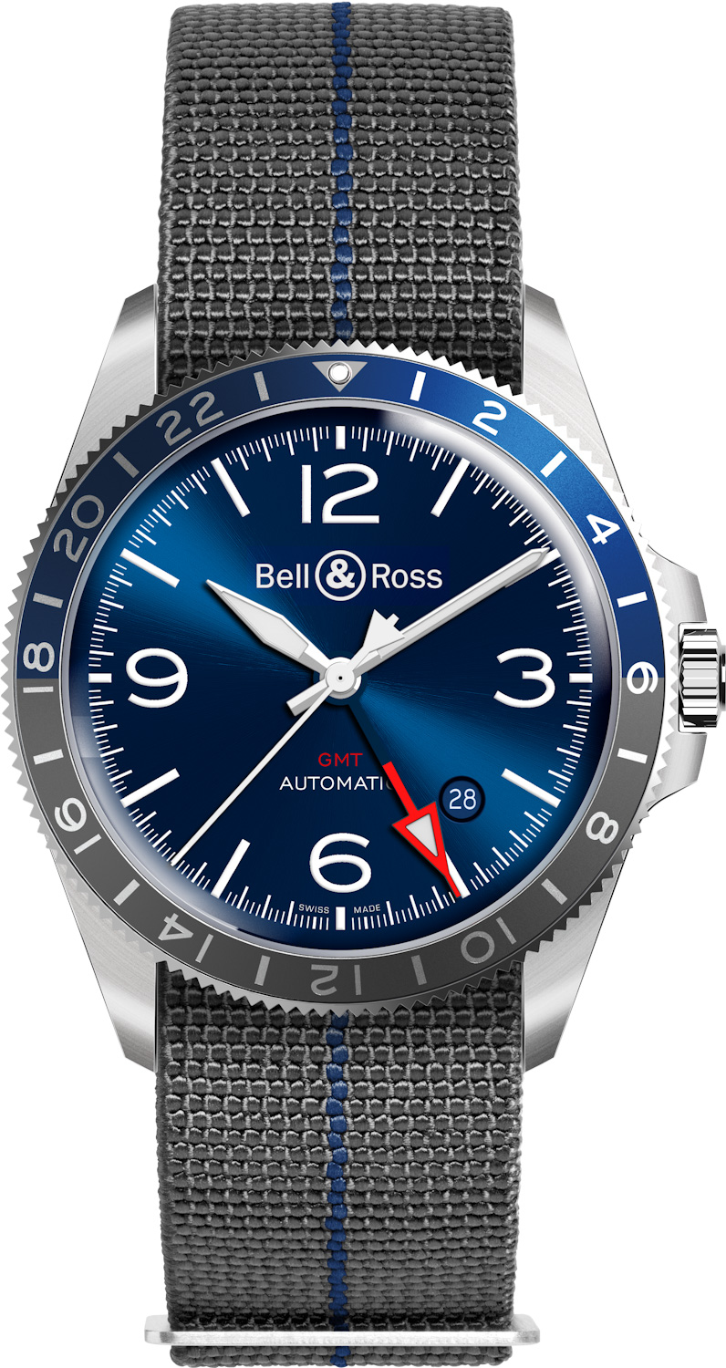 timeandwatches.pl bell & ross GMT Blue