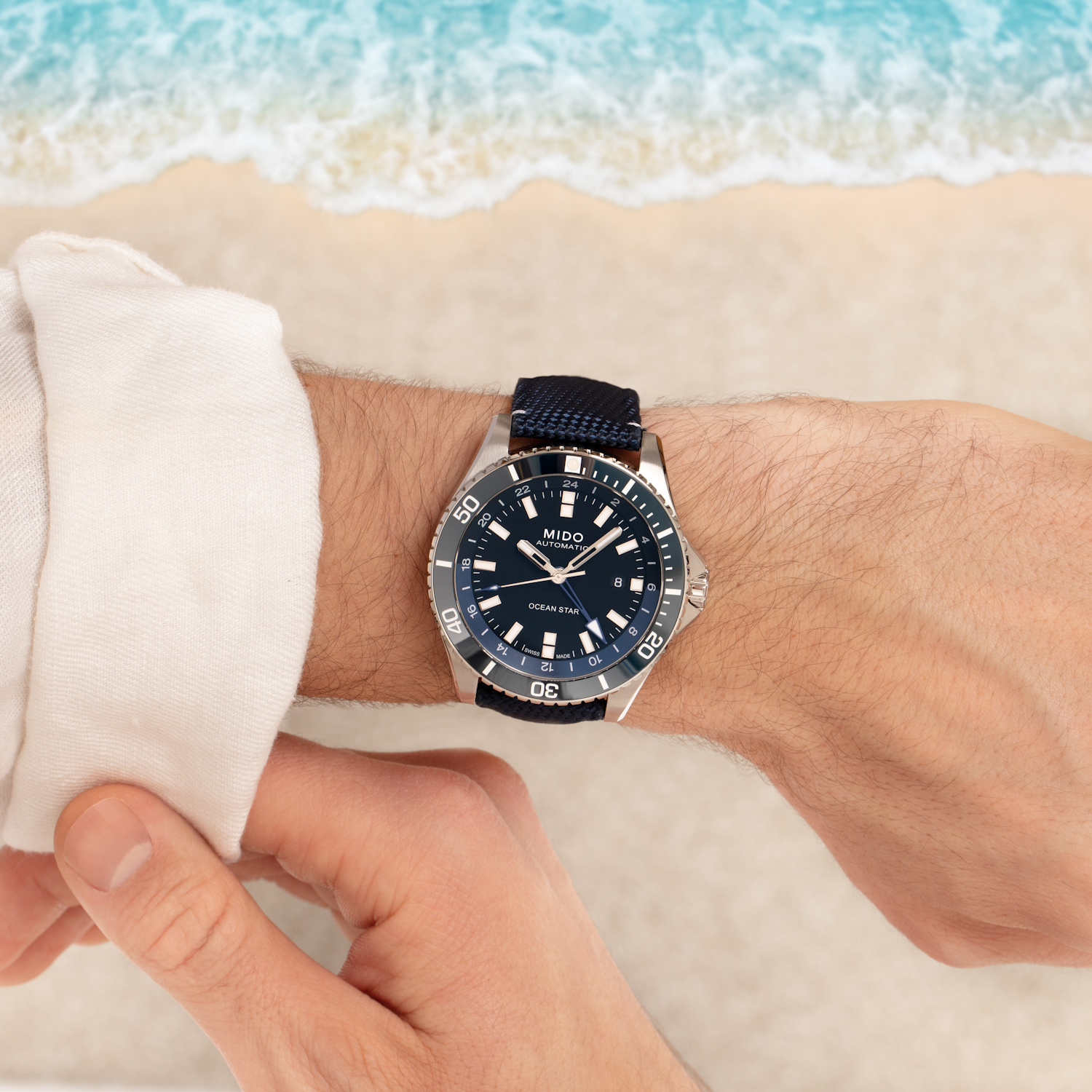 Mido Ocean Star GMT Timeandwatches.pl