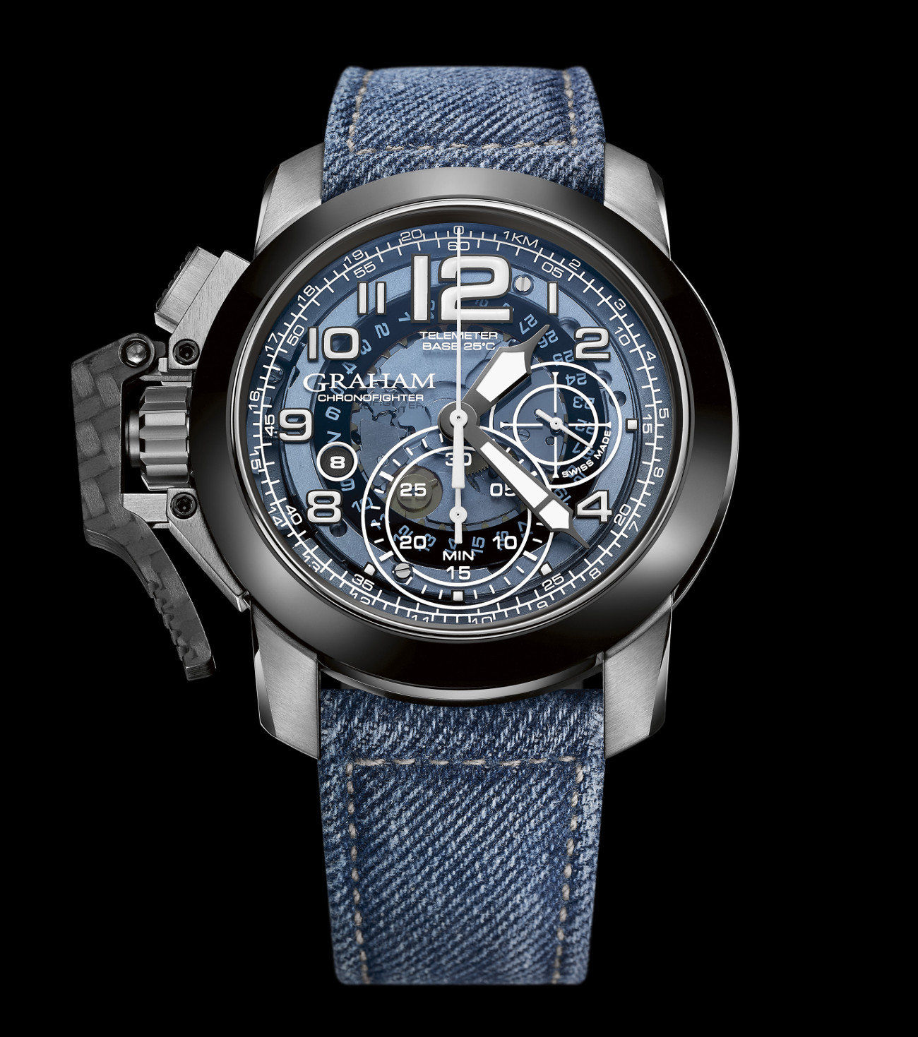 Graham Chronofighter Target Denim Collection | timeandwatches.pl